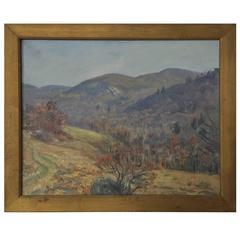 Louis Mayer Painting of Fishkill Mountain Hudson Valley, New York