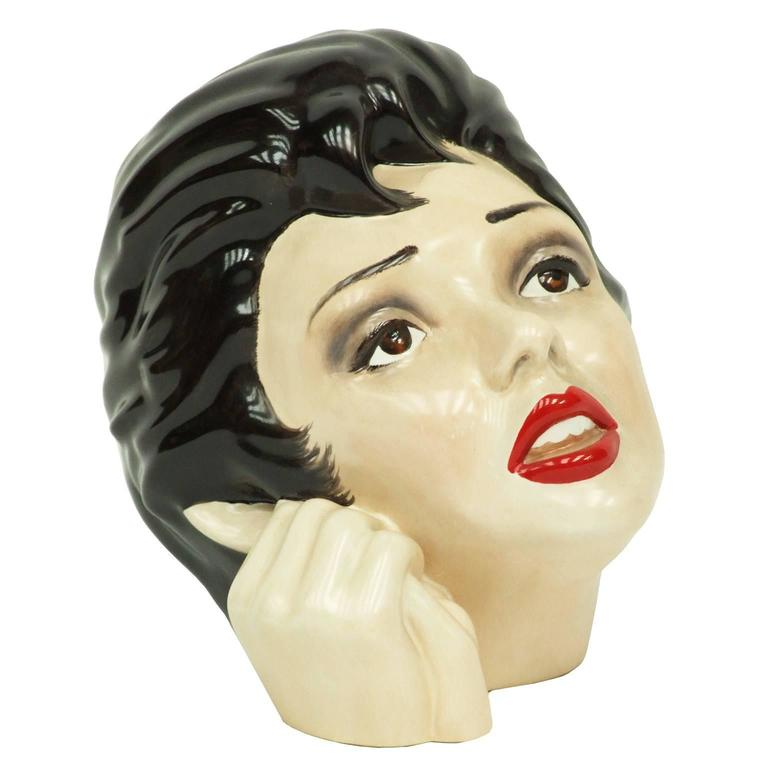 1970s Judy Garland Ceramic Bust by Morris Rushton for Fleshpots For Sale
