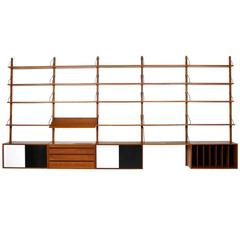 Large 1960s Poul Cadovius Royal Teak Shelf System Danish Modern Design Unit