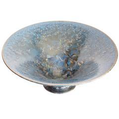 Blue Crystal Glazed Porcelain Bowl by Jörg Baumöller