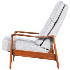 Milo Baughman Walnut Reclining Lounge Chair for Thayer Coggin