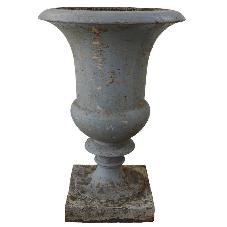 Antique 19th Century French Cast Iron Medici Urn