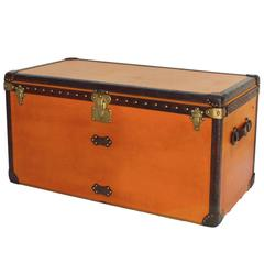 Striking Orange Louis Vuitton Courier Trunk Circa 1930's