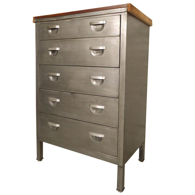 Mid Century Metal Dresser Refinished For Sale At 1stdibs