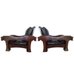 Mid Century Frigerio  Pair of Italian Armchairs