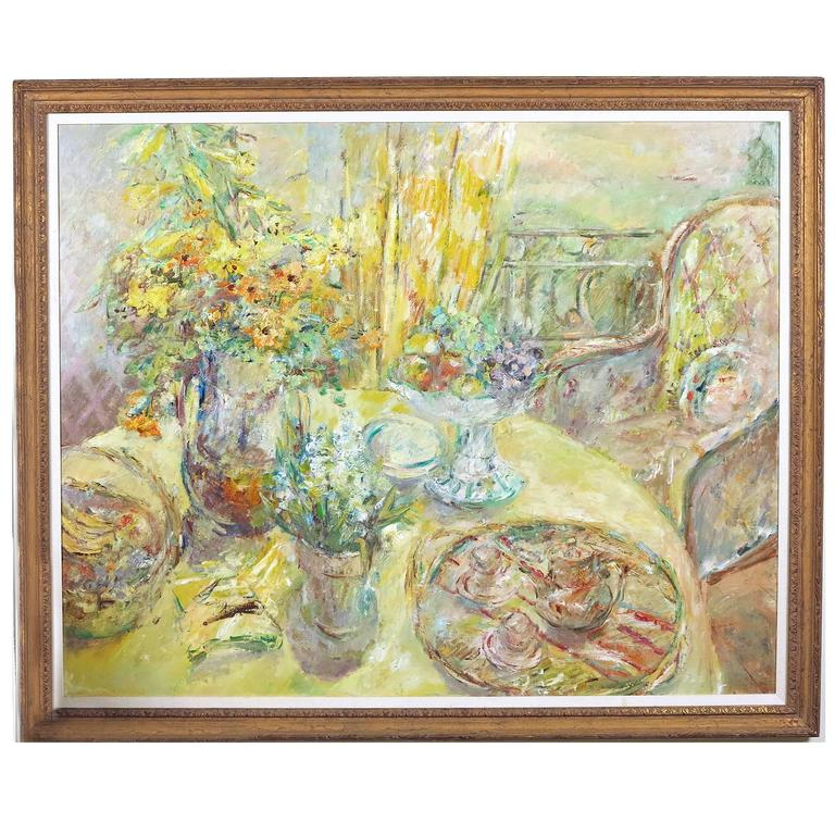 """Large Format """"Still Life on the Veranda"""" by Wallace Bassford"""