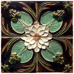 19th-20th Century Portuguese Art Nouveau Azulejos