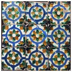 Set of Nine 16th Century Tiles