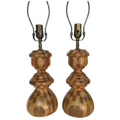 Pair of Chest Piece Table Lamps