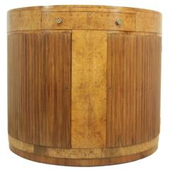 Art Deco Walnut Console Table, circa 1930