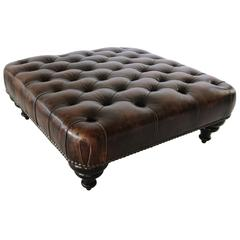 George Smith Ottoman Pouf, England, Chesterfield