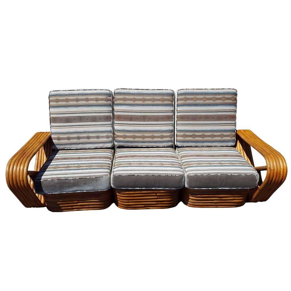 Vintage mid century rattan frankl style sofa reduced 30 for Reduced furniture
