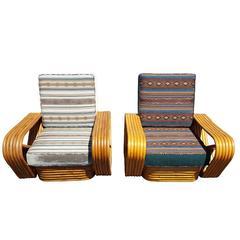 Vintage Mid-Century Paul Frankl Style Rattan Pretzel Lounge Chair