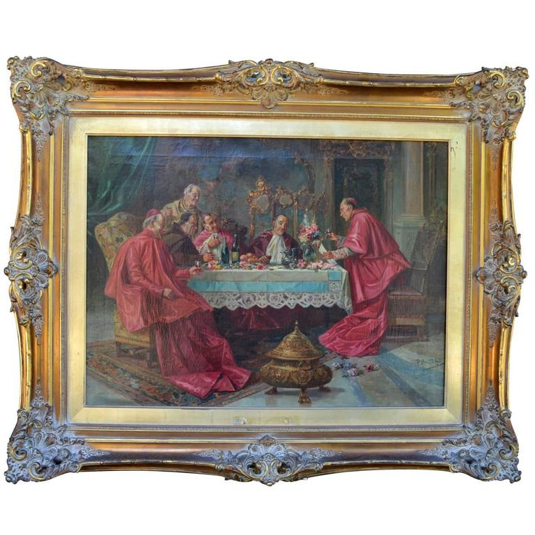 Impressive, Antique Oil on Canvas Signed Painting