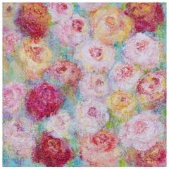 """Roses for Spring,"" Original Mixed Media Painting, Artist Sheema Muneer"