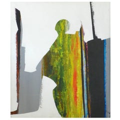 Original Abstract Mid-Century Modern Painting by Jonas Gerard, 20th Century, USA