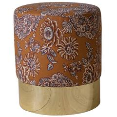 Azucena Stool in Linen Textile