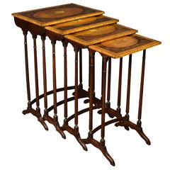 Nest of Four Sheraton Revival Tables