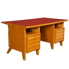 Custom Eight-Drawer Desk by Gio Ponti