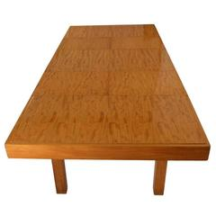 Rare George Nelson for Herman Miller Blonde Dining Table