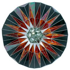 Beautiful Void Big Bang ii Mirrored Wall-Mounted Sculpture by Andy Diaz Hope