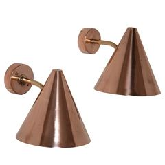 Hans Agne Jakobsson Copper and Brass Wall Lamps, Sweden