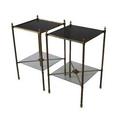 Pair of Brass Side Tables, 1960s