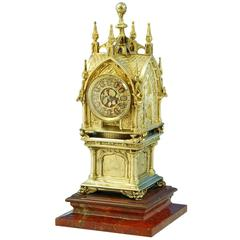 Tiffany & Co a Magnificent Gothic Revival Mantle Clock