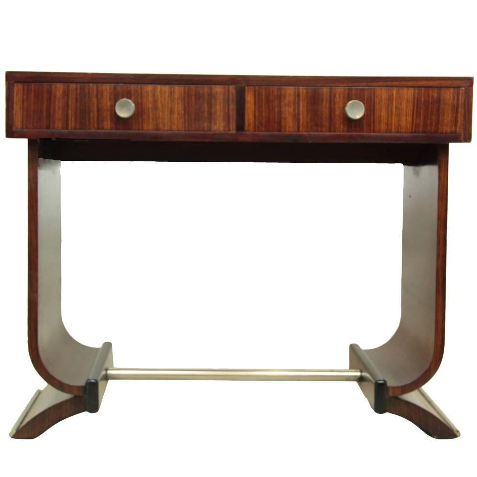 french art deco console table in rosewood circa 1920 at. Black Bedroom Furniture Sets. Home Design Ideas