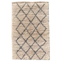 Beni Ourain Diamond Design North African Tribal Rug