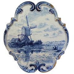 18th Century Delft Wall Plaque