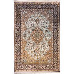 Fine Vintage Persian Qum Silk Rug