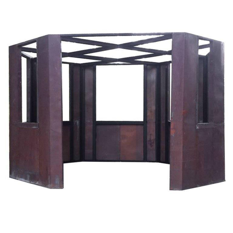 Frank Gehry Copper Panelled Gazebo For Sale