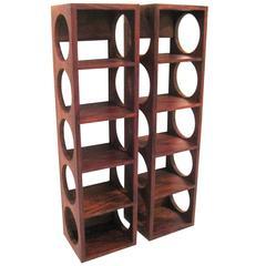 Danish Modern Rosewood Set of Wall-Mounted Wine Racks