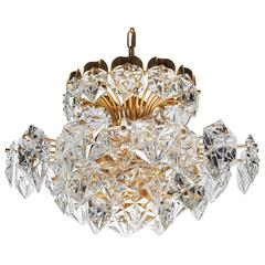 Exquisite Faceted Crystal Chandelier with Multi-Tier Design by Kinkeldey