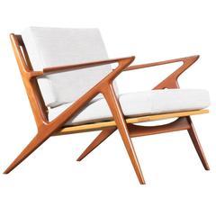 """Poul Jensen """"Z"""" Teak Lounge Chair for Selig"""