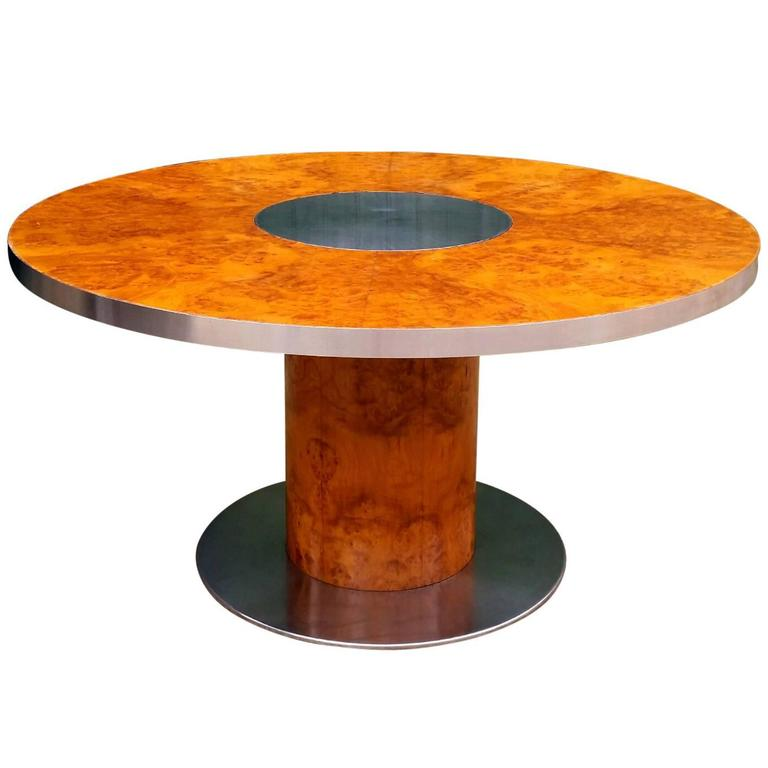 Willy rizzo dining table model savage for mario sabot for Table willy rizzo