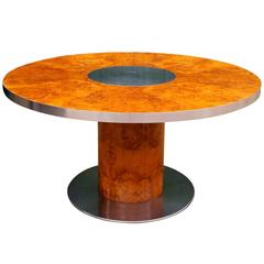 """Willy Rizzo Dining Table model """"Savage"""" for Mario Sabot, circa 1970"""