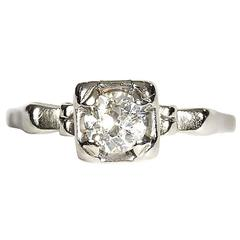 14-Karat Gold Diamond Solitaire Ring