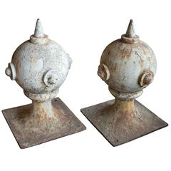 Pair of English Victorian Ball Pier Finials
