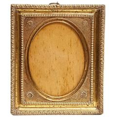 18th Century Pressed-Brass Picture Frame