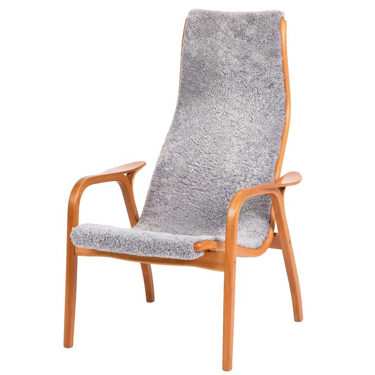 Yngve Ekström, Lamino Chair in Cherrywood, Laminated Wood, Sweden at 1stdibs