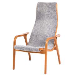 Yngve Ekström, Lamino Chair in Cherrywood, Laminated Wood, Sweden