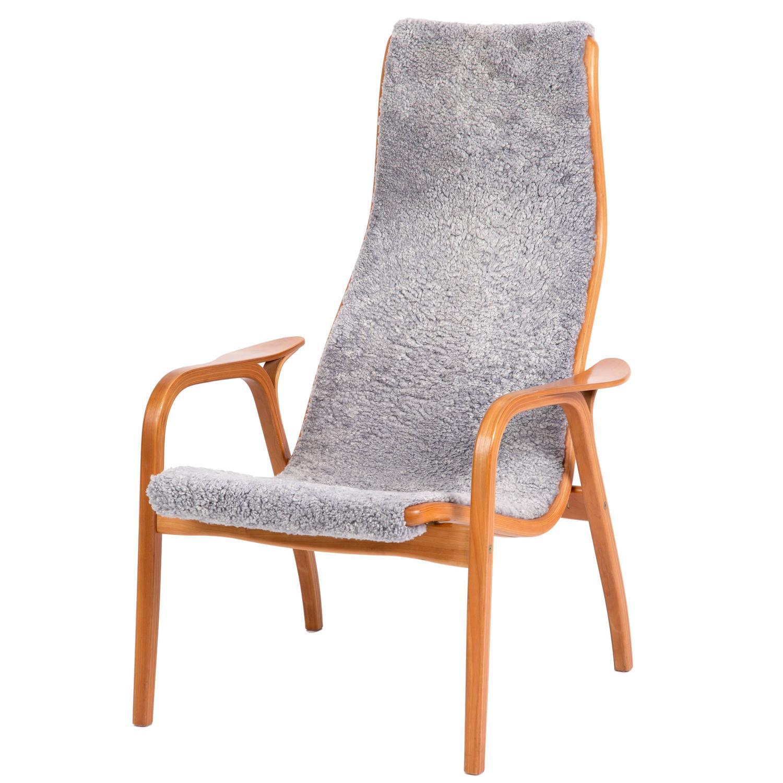 Yngve Ekström, Lamino Chair in Cherrywood, Laminated Wood, Sweden at 1stdibs