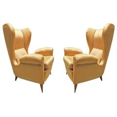 Beautiful Pair of Armchairs, Design by Paolo Buffa, 1948