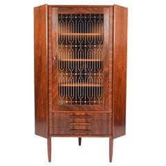 Brazilian Rosewood Corner Cabinet