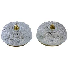 Pair of Hollywood Regency Style Flush Mount Lights by Helena Tynell for Limburg