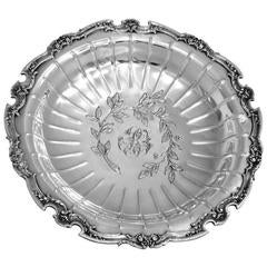 Fabulous French All Sterling Silver Compote or Tray Louis XVI Pattern