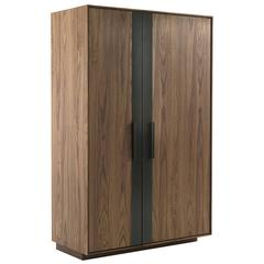 Cabinet Wine Storage in Solid Walnut Wood 56 Bottles Rack