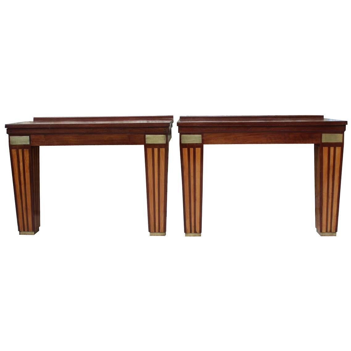 french mahogany console tables circa 1950s for sale at